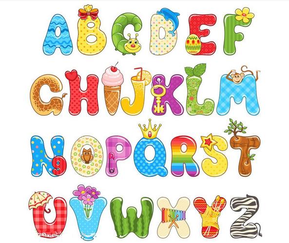 幼儿园大班绘画活动:字母变形abc