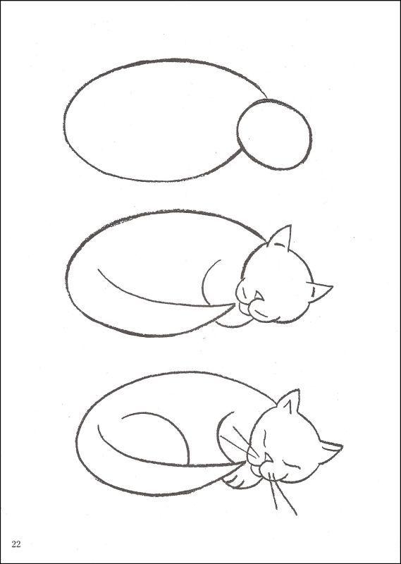 猫-简笔画版