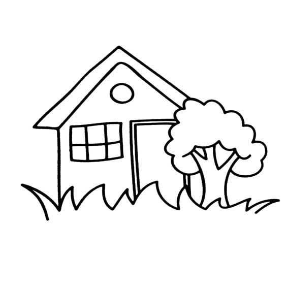 简笔画:房子