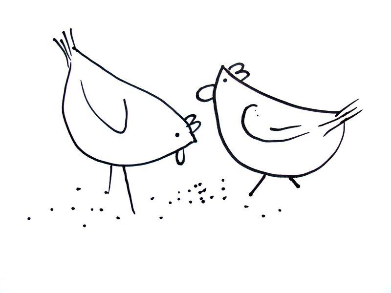 鸡-简笔画版