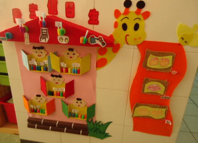 幼儿园的互动环境包括主题环境、区域环境和生活环境三部分。 主题环境即主题活动的互动环境,包涵隐性的互动环境和显性的互动环境。  隐性的互动环境一般是指主题墙饰中幼儿参与制作的部分,大多是以美劳方式体现的。例如:在小班主题活动高高兴兴来幼儿园的主题墙饰中,教师可以请幼儿画一些小花、小草、小动物或者用手工粘贴的方法制作一些作品放在上面。到了中、大班,一般是要求幼儿把对主题活动的理解用绘画的形式展现出来,并呈现于下墙,以体现主题的轨迹。 而显性的互动环境是指真正能够让幼儿操作的环境。例如:在小班主题活动