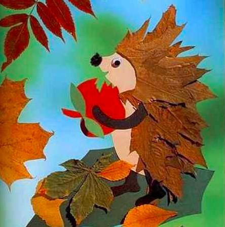 叶子人和动物是最受欢迎的秋天工艺品.