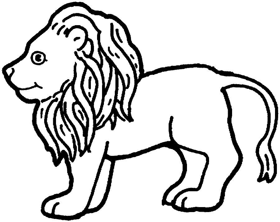 狮子-简笔画版