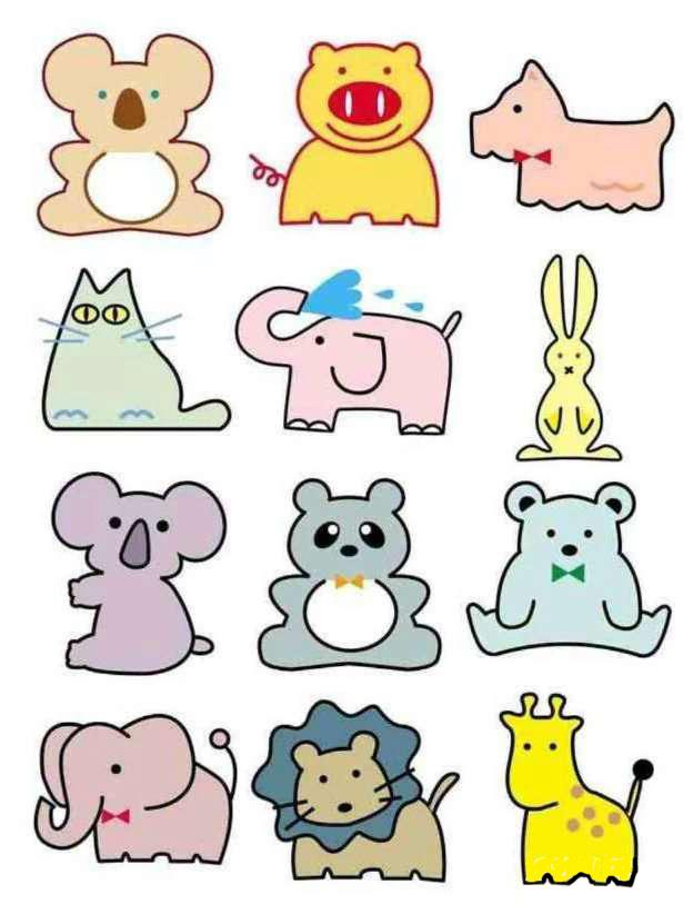 彩色简笔画-动物