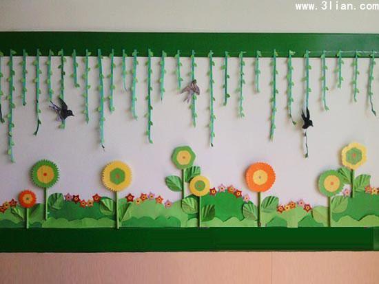 纸作品的墙面设计-幼师宝典官网