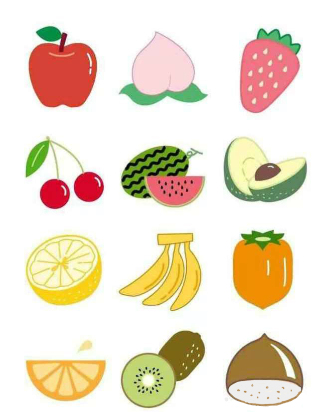 彩色简笔画-水果