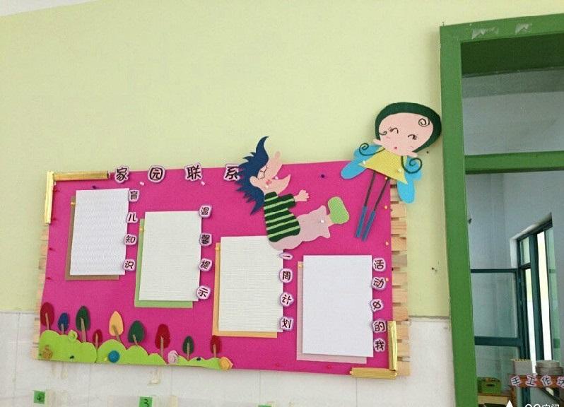 幼兒園家園聯系欄布置