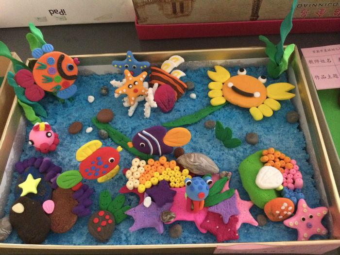 美工区幼儿园老师纸粘土制作作品展图片