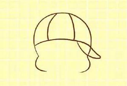简笔画--一只爱吃鱼丸粗面的麦兜