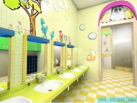 精美的幼儿园卫生间及盥洗室环境布局创设