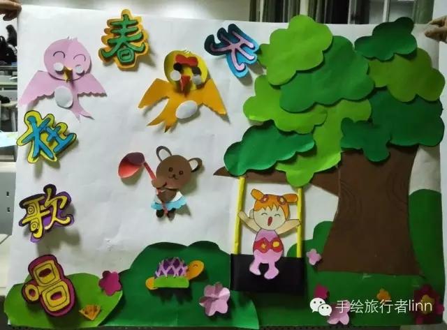 幼儿园主题墙设计——春天的交响曲