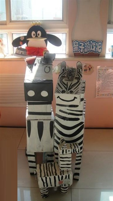 台湾有个纸箱王国,我们班有个动物世界