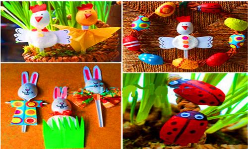 活动总结与延伸 勺子创意作品赏析: 各种昆虫,动物 幼师宝典版权所有