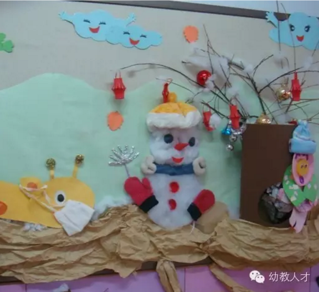 幼儿园冬天主题墙布置