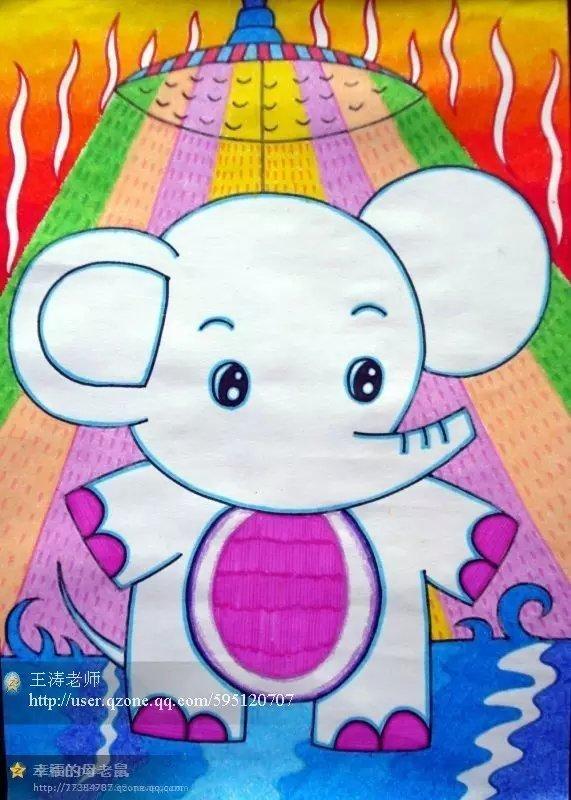 创意好看的动物水彩笔画,快来收藏!