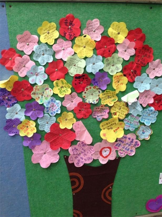 幼儿园感恩节活动墙面布置图片