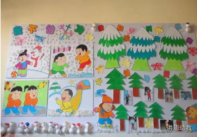 幼儿园主题墙创设【冬季主题】