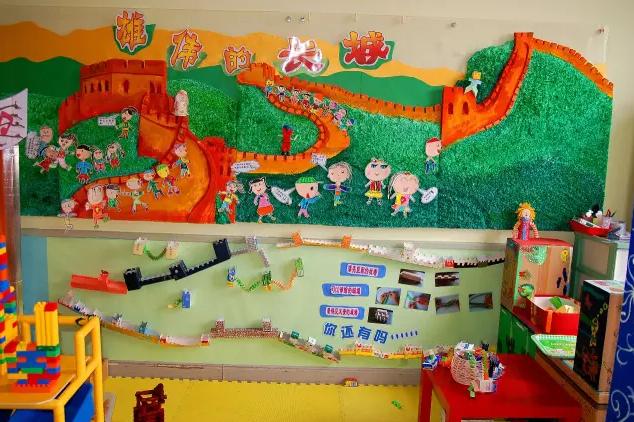 爱国主题墙面布置   文章转自微信爱迪斐尔幼儿园设计 我们尊重原