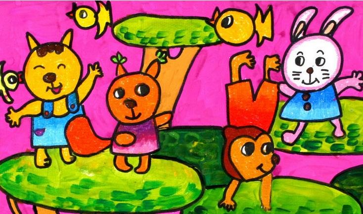 中班美术教案——快乐的小动物
