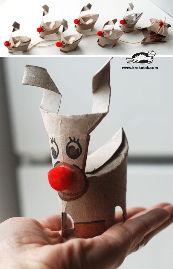 卫生纸筒 | 纸筒做的动物合集,看看这里有什么动物?