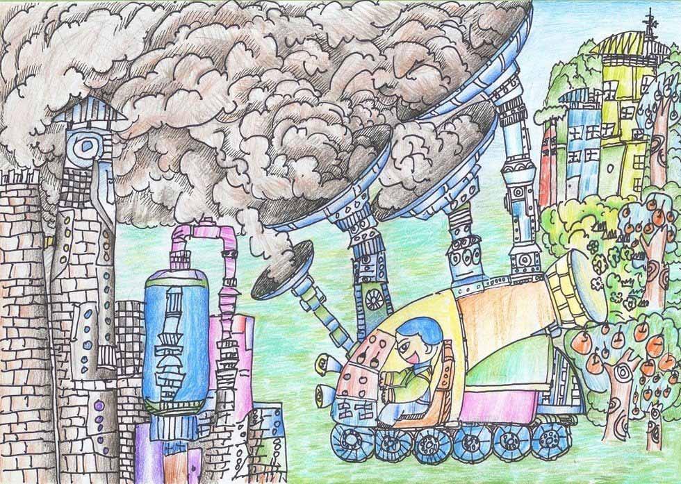 越来越多的汽车排放了好多尾气,它们是雾霾的来源之一.