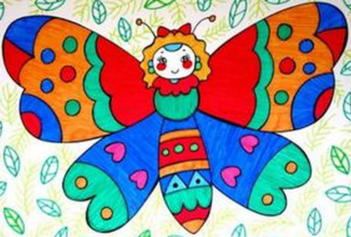 主题活动:春天—手工美丽的蝴蝶图片
