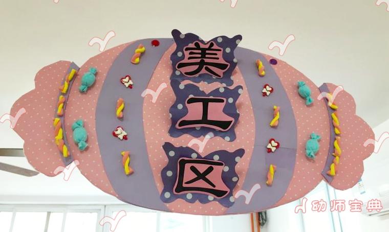 《美味的糖果城堡》主题墙及活动区环创设计
