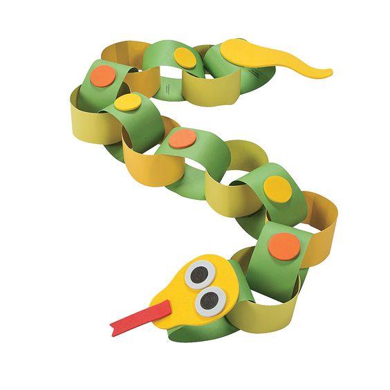 幼儿手工制作动物鳄鱼
