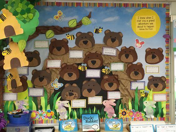 听说国外幼儿园喜欢用小熊主题周迎开学哦~(环创美工篇)