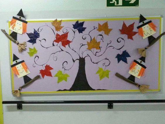 环创|45张有料素材图,帮你搞定秋天主题墙,读书角和家园栏!图片