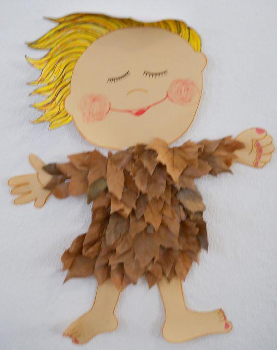 树叶の玩偶之家 基本所有的幼儿园关于树叶的手工都是拼贴画…… 想