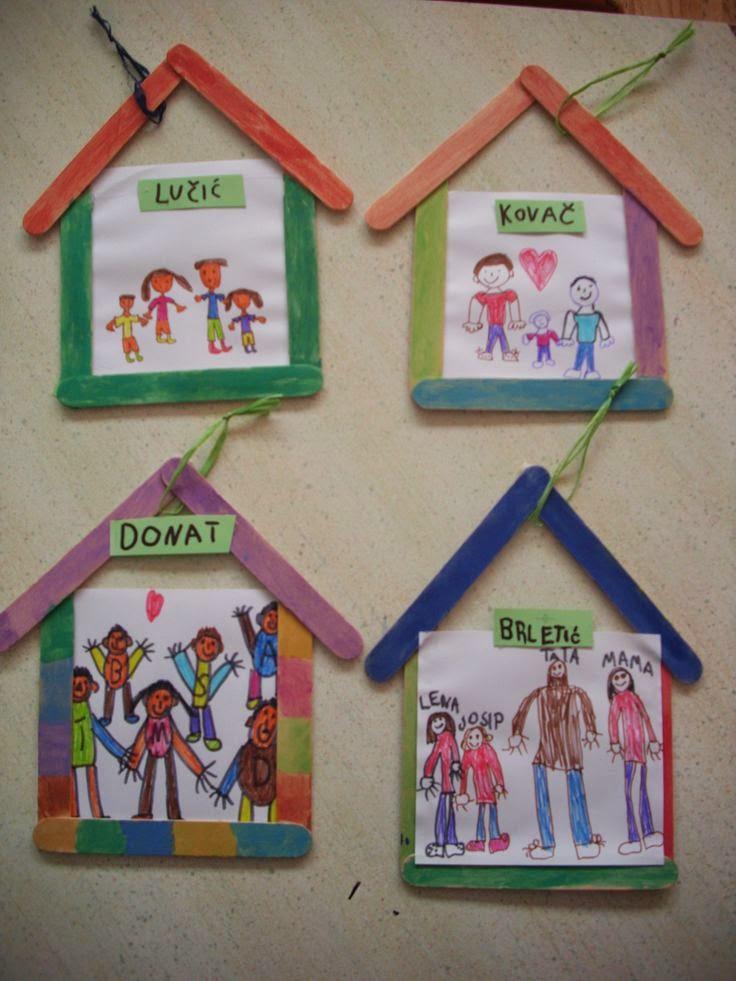 """""""我和我的家庭""""系列环创和手工,把家人的温暖带到幼儿"""