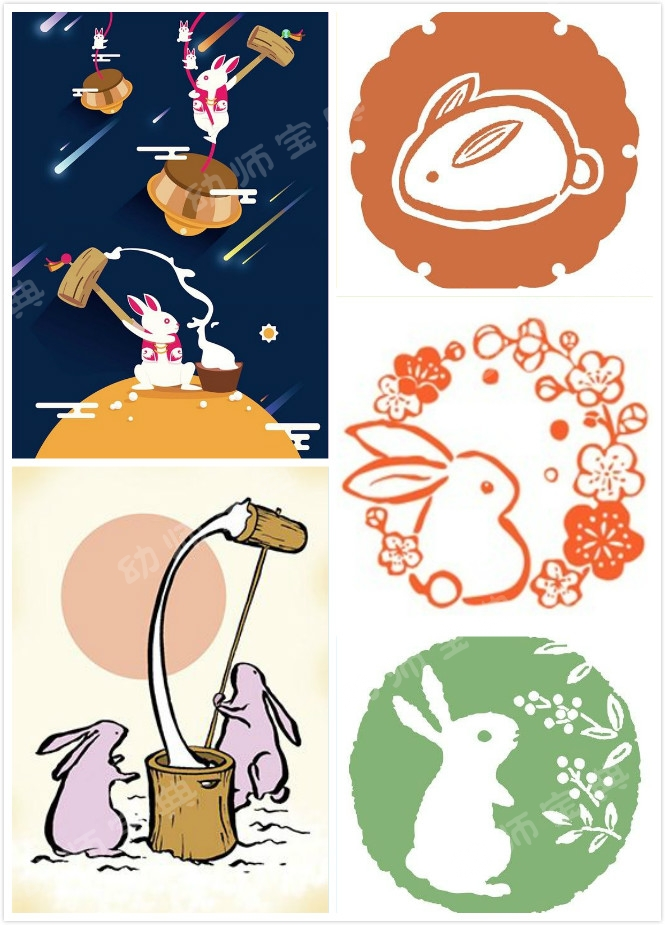 中秋节环创参考素材大放送!玉兔,嫦娥,中式边框速速来