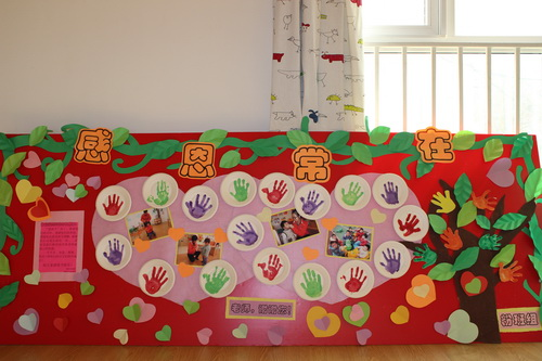 幼儿园室外手工展板