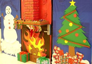 圣诞节教室门、走廊布置 | 多元风格,超多图片,让你一饱眼福
