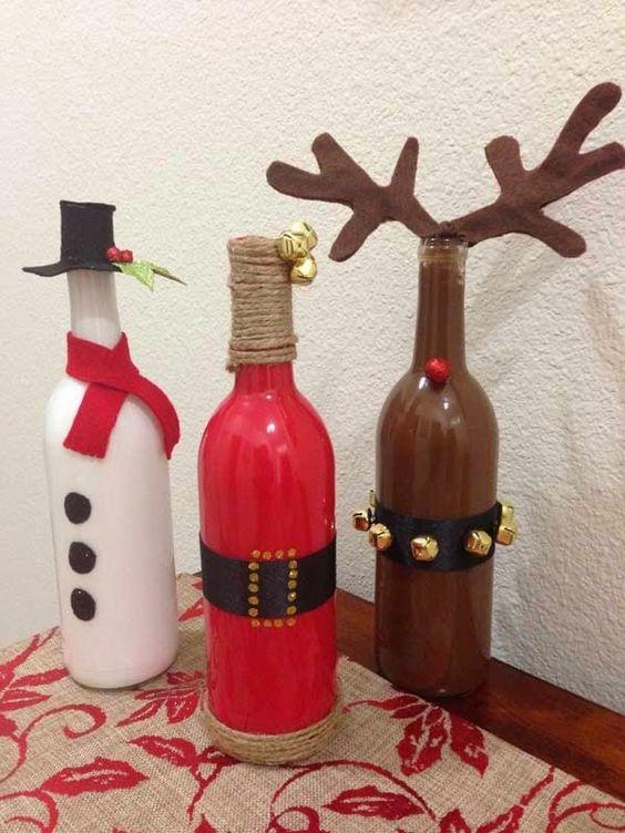 大瓶子幼儿园手工制作圣诞老人