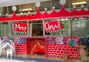 圣誕節環創 | 幼兒園全園場景布置,讓你一次看個夠!!
