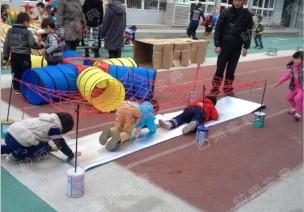 戶外體育游戲自制混齡器械