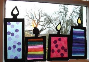 45张简单、大气的圣诞节窗户环创,让气氛更浓一些