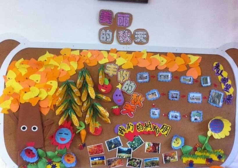 秋天主题墙 | 从主题网络图,到主题墙和墙面装饰图片