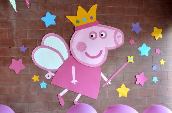 猪卡通气球手绘裙子