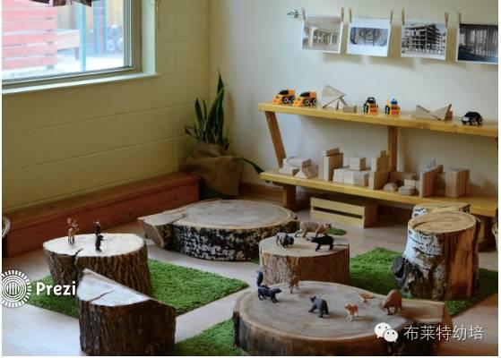 环境布置关注的重点是创设多种选项来促使儿童拓展他们的兴趣.图片