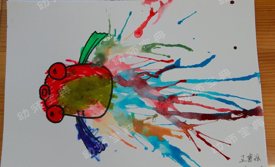 小班教案 | 艺术领域美术活动:吹画《给小金鱼吹尾巴》