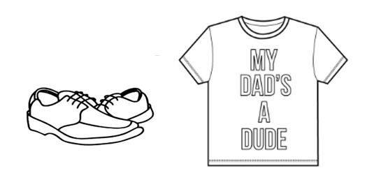 裙子,鞋子,球,小熊各一大一小图片;可爱小女孩,爸爸等教师操作图片.