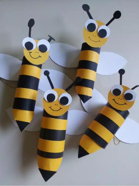 春季手工 | 嗡~嗡~嗡,小蜜蜂集结队来啦!