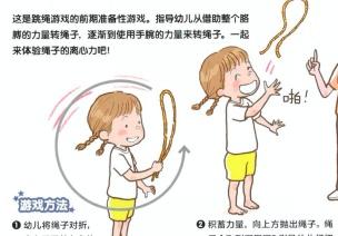 四岁宝宝爆发力体育游戏-绳子-日韩