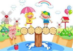 幼儿园大班体育活动:水中寻宝
