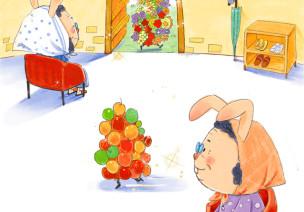 小班语言活动《刺猬树》