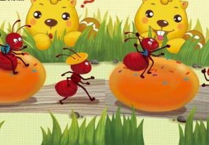 幼兒園小班數學活動:小螞蟻運糧食