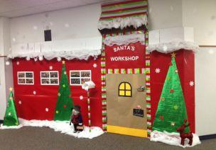 圣誕節教室門裝飾大放送啦!超全哦!